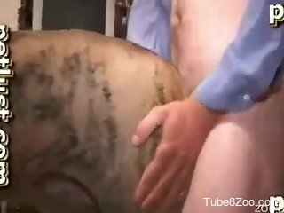 Doggy with very hard prick nicely screwed a horny male