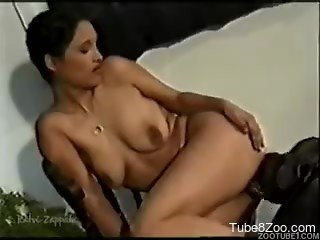 Big-boobed cutie hardly screwed by her lovely doggy