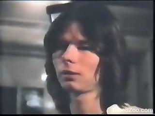 Vintage zoophile porno movie with hardcore loving