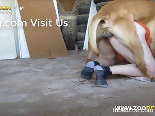 Doggy style encounter with a true zoophile hottie